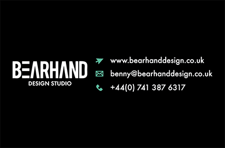 benny@bearhanddesign.co.uk   +44(0)7413876317